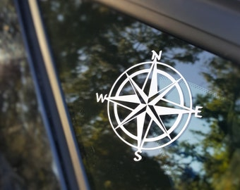 Decal {Compass}-Laptop Decal/Laptop Sticker/Phone decal/Phone sticker/Car Sticker/Car Decal/Window Decal/Window Sticker
