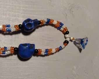 Starflower, skull orange and blue