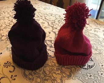 Hand knit touque
