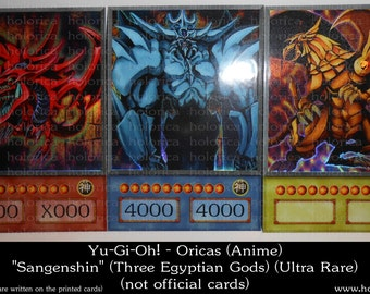 Yu-Gi-Oh! Holographic ORICAS LOT | Egyptian Gods | Ultra Rare | ANIME