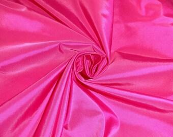 Cerise pink Taffetta bridal prom fabric