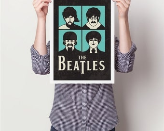 Love is all you need, Music print poster, lyrics print poster, retro print poster,beatles print poster, poster, posters