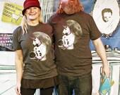 Astronaut Unicorn Shirt: Crew Neck Roller Skating Unicorn, Unisex American Apparel T-Shirt, Funny Unicorn Shirt, Roller Derby Shirt