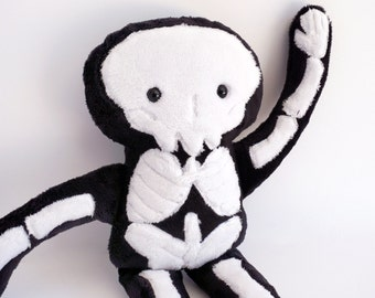 Stuffy Skeleton - super soft plush doll made from minky