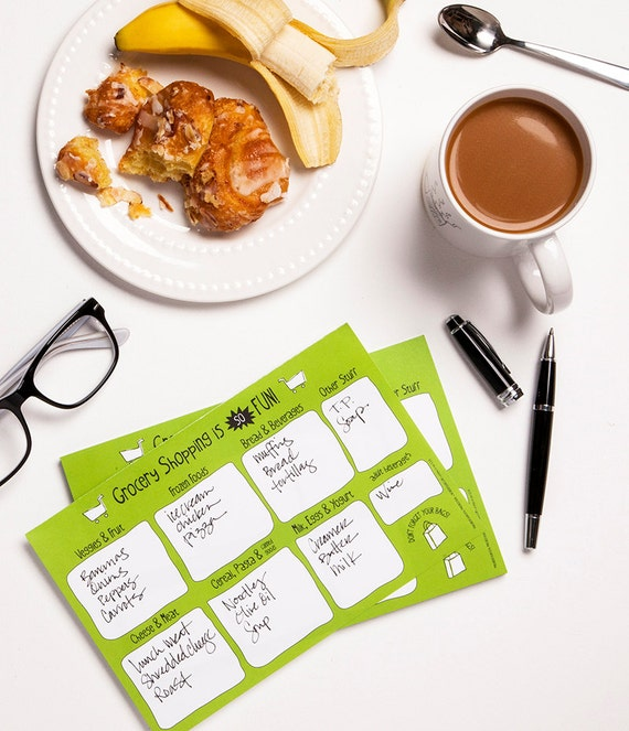 Awesome Grocery List Notepad - Shop like a boss!