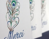 Merci Note Cards, set of four
