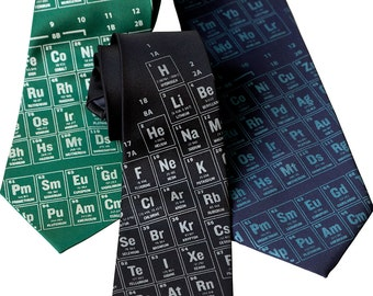 Periodic Table Necktie. Scientific Print Tie. Science teacher gift, chemistry teacher gift.