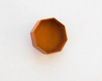 Fine finished deep octagonal bezel - Sailors Valentine - Mahogany - 47 mm overall diam. - (F84-M)
