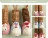 knitting pattern for Little Cotton Rabbit animals  alternative feet