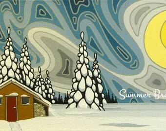 Northern Blues, 10x20 Original Painting