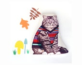 Heating pack / Hottie, Cat in a jumper, microwavable wheat pack or Cool bag with Lavender