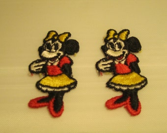 Two Minnie Mouse Souvenir Patches