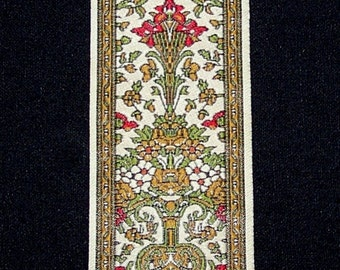 Vintage  Antique  Woven Silk Arts & Crafts Style Bookmark