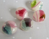 RESERVED for Pamela - Glass Buttons, Handmade Buttons, Fused Glass Buttons