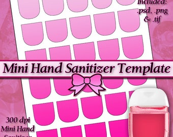 NEW Mini Hand Sanitizer Label DIGITAL Collage Sheet TEMPLATE DiY 8.5x11 Page with Video Tutorial Instructions (Instant Download)