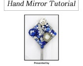 DIY Tutorial - Create Your Own Jeweled Hand Mirror - Downloadable PDF