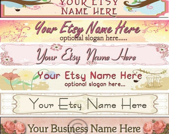 Raggedy Dreams  Designs - Premade Etsy Shop Banner - Etsy Banner - SHOP ICON - Primitive Scroll Muted Flowers Pastels