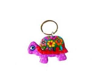 Turtle key chain, key chain, keychain, key holder, unique key chain, bag decorate, key chain for woman, key chain for girl, cute key chain