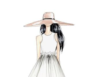 Abigail-Fashion Illustration-Sketch-Fashion Print-Fashion Art-Illustration Print-Brooke Hagel-Brooklit-Spring-Summer Sketch