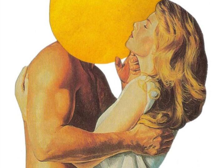 Forbidden Fruit Art Collage, Apple Artwork, Strange Romance