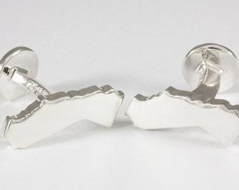 California CA State Sterling Silver Cufflinks