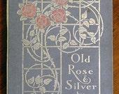 Handbound Artist Journal from vintage OLD ROSE & SILVER