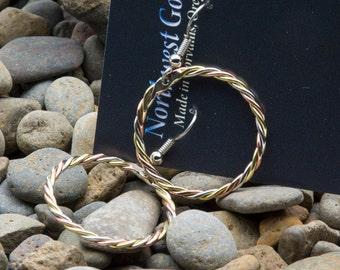 Copper hoop earings