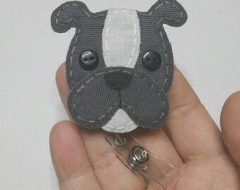 Blue Boxer Badge Reel, Blue Bulldog Badge Card Holder,Boxer, Bulldog Badge Reel, Bulldog,ID Holder,Dog,Nursing Name Badge Holder,Badge Reel