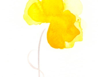 "Art print of yellow watercolor flower: ""Spring Sunshine"""
