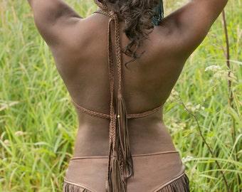 Midas Leather Rivet Cuff | Men's Women's Tribal Cuff Bracelet | Black Brown Brass Silver | Boho Hippie Gyspy Biker | Primitive Wrist Band