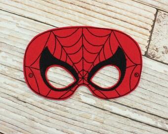 Spiderman Mask - felt Spiderman mask for Parties, Halloween, Dress-up Play, Spiderman Halloween Mask, Spiderman Halloween Costume