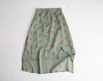 layered chiffon skirt / 90s skirt / sheer skirt