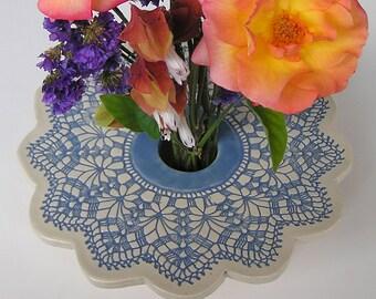 Doily Lace Ikebana Vase