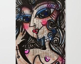 "Nude Goddess art... Canvas Art Print . Original Abstract  painting ""Nude Goddess 32"" by Kathy Morton Stanion  EBSQ"