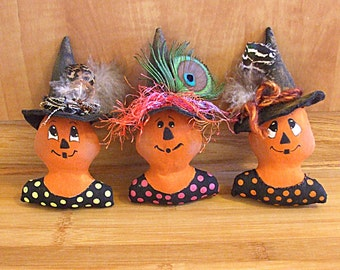 Halloween Pumpkin Witch Bowl Filler