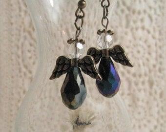 Beaded Angel Earrings, Larger Size, Choose One Pair