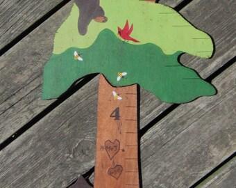 FOREST BEARS Wood Growth Chart - Custom Hand Painted Keepsake