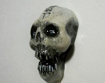 Voodoo Head, Zombie, Shrunken Head,2 Zombie Head Pendant