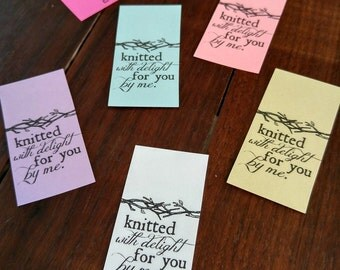 Printable PDF Craft Show Tag - Knitted with Delight Labels or Stickers