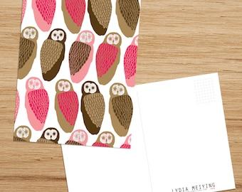 Postcard • Owls