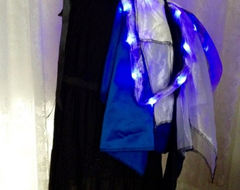 Light up TARDIS bustle skirt - blue black and white Burning desert Man bustle tutu - steampunk tutu bustle skirt - plus size no size - short
