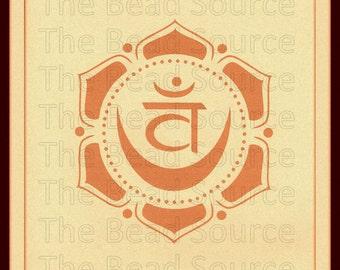 Sacral Chakra Stencil, Yoga Stencil, Chakra Symbol Stencil, Mylar Stencil, Art Stencil, Reusable stencil, pochoir, Swadhisthana, Chakra Art