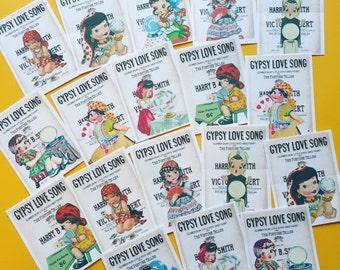 Gypsy Halloween Stickers - Set of 18 - Handmade Stickers, Vintage Style, Vintage Halloween, Planner Stickers, Cute Halloween, Gypsy Stickers