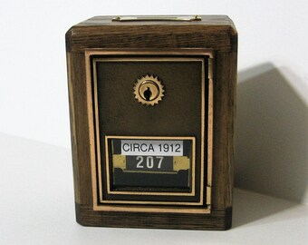 Post Office Box 1912 Door Bank With Two Keys
