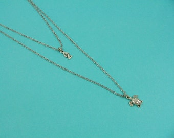Delta Zeta DZ Lavaliere Greek Letter Turtle Double Strand Necklace Officially Licensed