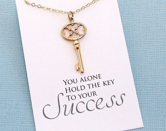 Graduation Gifts | Skeleton Key Necklace, Graduation Gifts, Student Gifts, Class of 2017, Graduation Gift, College Student Gifts | G05