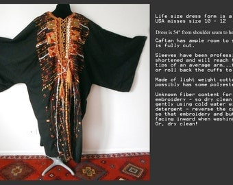 Siwa Oasis traditional Bedouin tribal caftan dramatic black
