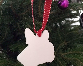 Boston Terrier 3D printed Nylon ornament