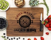 Personalized Cutting board, Fathers Day Grill Board, Dads BBQ, Grill Master, Dad Cutting Board engraved Engraved Walnut --21088-CUTB-002