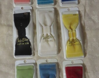 Vintage 1950s 1960s Hair Bows Velvet NIP NOS Deadstock Beehive Bouffant Rockabilly 50s 60s YOU Pick Color